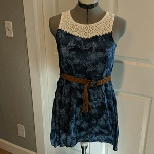 Summer Western style dress with belt